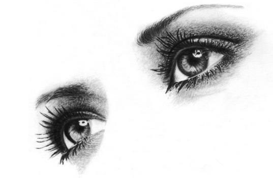 素描眼睛图片 步骤
