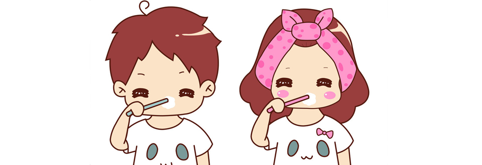 娃娃刷牙步骤简笔画