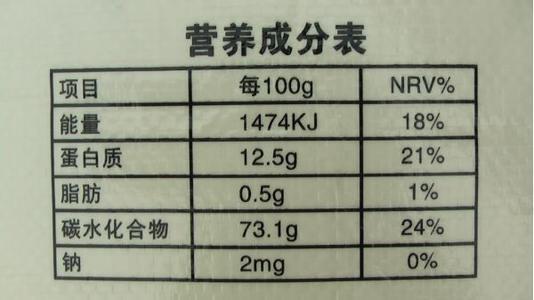 秒懂营养成分表!